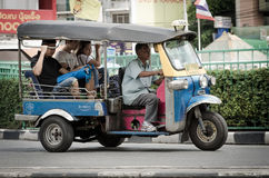TUK TUK tricycle Thailand taxi. Stock Photos