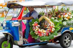 TUK TUK tricycle Thailand taxi. Stock Images