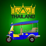 Tuk tuk, 3 wheels taxi in Bangkok Thailand Logo Royalty Free Stock Images
