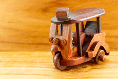 Tuk Tuk wood toy Royalty Free Stock Photography