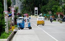 Tuk-tuks на улице Стоковые Фото
