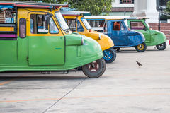 Tuk tuks lined up in a side ally Royalty Free Stock Image