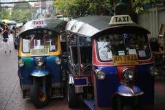 Tuk Tuks w Bangkok, Tajlandia Fotografia Royalty Free
