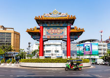 Tuk-tuktaxi in Bangkok Chinatown Stockfoto