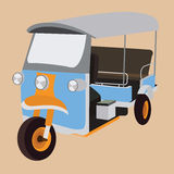 Tuk tuktuk thailand iconic transportation rickshaw transport city bangkok taxi vector Stock Images