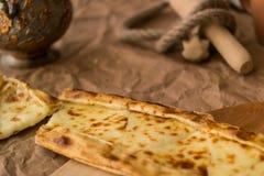 Tukish pide με το τυρί/Kasarli pide Στοκ φωτογραφίες με δικαίωμα ελεύθερης χρήσης