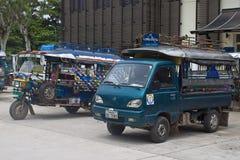 Tuks estacionados do tuk Fotografia de Stock Royalty Free