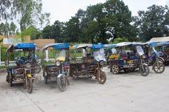 Tuks parcheggiati del tuk Fotografie Stock Libere da Diritti
