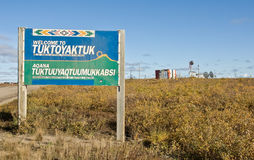 Tuktoyaktuk welcome sign Royalty Free Stock Photography