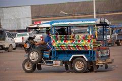 TukTuk出租汽车在老挝 免版税库存照片