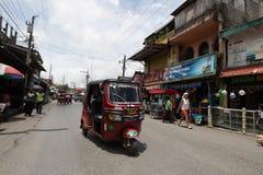 Tuktuk在危地马拉 库存图片