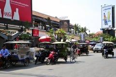 TukTuk, Angkor wata miasto Zdjęcia Stock