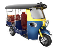 TUKTUK 3d render isoleted on white with paths. Stock Images
