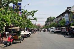 TukTuk, de stad van Angkor wat Royalty-vrije Stock Foto's