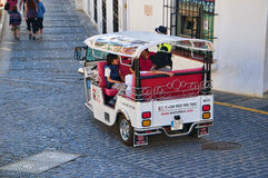 Tuktuk Electric Car in Mijas on the Costa del sol Spain Royalty Free Stock Photos