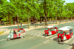 TukTuk taxi in Paris, France stock images