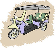 Tuktuk vector sketch Royalty Free Stock Image
