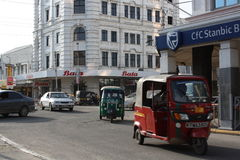 Tuktuks mombasa CBD Arkivbilder