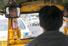 Tuku tuku kierowca w Bangkok Zdjęcia Royalty Free