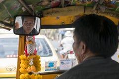 Tuku tuku kierowca w Bangkok Obraz Royalty Free
