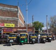 Tuku Tuk riksza w Jaipur podczas dnia Zdjęcia Royalty Free