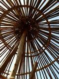 Tukul - construction du toit Photo stock