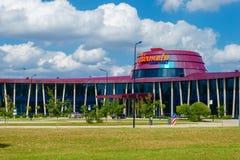 Tukums, Letland 27 Juli, van de Luchthavenjurmala van 2016 de Hoofdterminal Stock Fotografie
