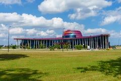 Tukums, Lettonia terminale della conduttura di Jurmala dell'aeroporto del 27 luglio 2016 Fotografia Stock Libera da Diritti