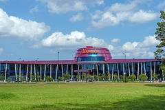 Tukums, Lettonia terminale della conduttura di Jurmala dell'aeroporto del 27 luglio 2016 Immagine Stock