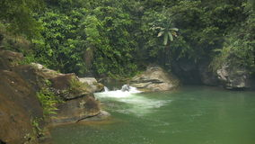 Tukuran waterfalls on Oriental Mindoro in the Philippines stock footage