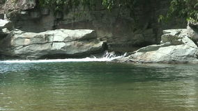 Tukuran waterfall in the jungle on oriental Mindoro in the Philippines stock footage