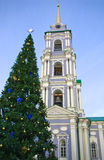 Tula Kremlin - Chapel of the Uspensky Cathedral. Chapel of the Uspensky Cathedral Tula Kremlin - large Christmas tree Stock Photography