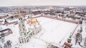 Tula Kremlin in de winter luchtmening 05 01 2017 royalty-vrije stock foto's