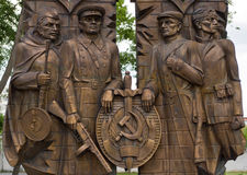 Tula Kremlin. Monument to employees of state security, the partisans, fighters reconnaissance and sabotage groups and destroyer battalions, the participants of Stock Photography