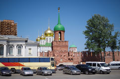 Tula Kremlin - Odoyevsky gate tower. There is a restoration of the chapel Royalty Free Stock Images