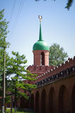 Tula Kremlin - Odoyevsky gate tower. And wall Stock Photography