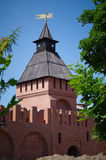 Tula Kremlin - Pyatnitsky gates tower. Kremlin walls Stock Photography