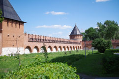 Tula Kremlin. Russian architecture Tula Kremlin - Towers and walls of the Kremlin Royalty Free Stock Image