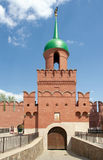 Tula Kremlin. Tower of Odoevsky Gate Stock Photography