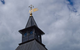 Tula Kremlin - tower. With a weather vane in the cloudy sky Stock Photos