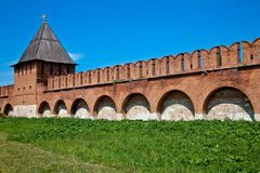 Tula kremlin wall Royalty Free Stock Images