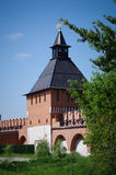 Tula Kremlin - Water tower gate XVI. Tula Kremlin - Walls and towers of the Tula Kremlin Royalty Free Stock Photography