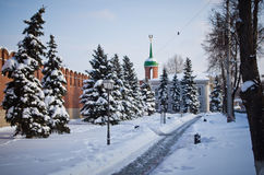 Tula Kremlin in winter. Stock Photography