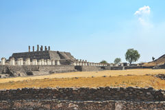 Tula Ruins, Mexico with Toltec Statues Stock Images