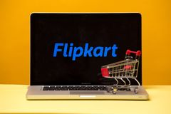 Tula, Russia 17. 06 2019 Flipkart on the laptop display. Tula, Russia 17. 06 2019 Flipkart on the laptop display royalty free stock photography