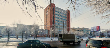 Tula, Russia, 31 gennaio, 2015: Ramo centrale dell'ufficio di ricerca di progettazione dell'ufficio progetti di fabbricazione del Fotografia Stock