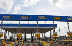 TULA, RUSSIA - 20.05.2015. Payment points on  highway M4 Don Stock Photo