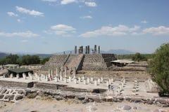 Tula Site Pyramid B ou pirâmide de Quetzalcoatl Foto de Stock