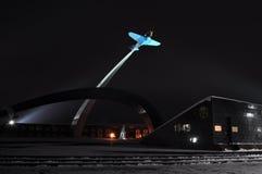 Tula Stella con el avión de la Segunda Guerra Mundial en el proyector imágenes de archivo libres de regalías