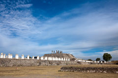 Tula - Toltec archäologische Ruinen Lizenzfreie Stockbilder